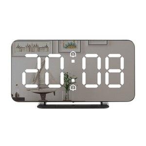 Mirror Digital Alarm Clock LED