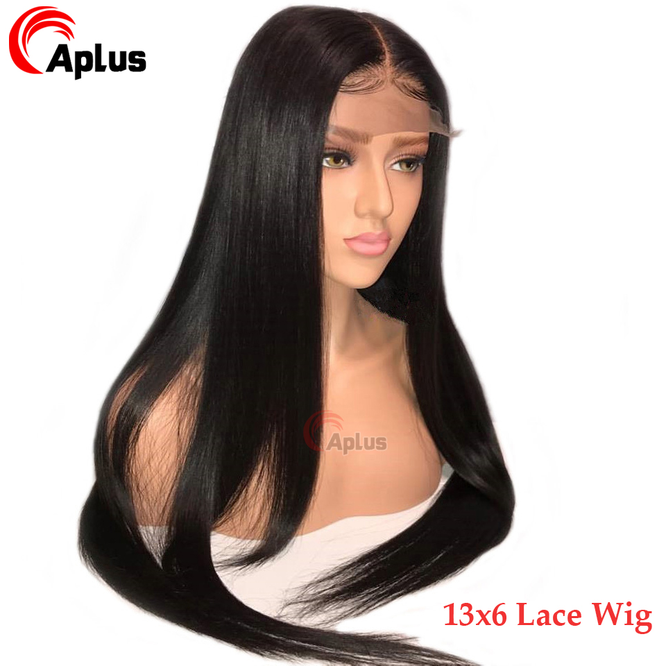 13x6 Deep Part Glueless Lace Front Wigs Remy Human Hair Medium Brown Lace Wigs Pre Plucked Naturl Hairline Straight Hair Wig
