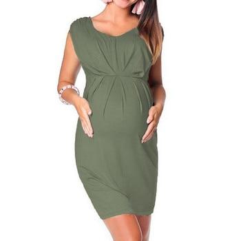 Maternity Clothes Pregnant Women Sleeveless Bodycon Dress Sexy 1