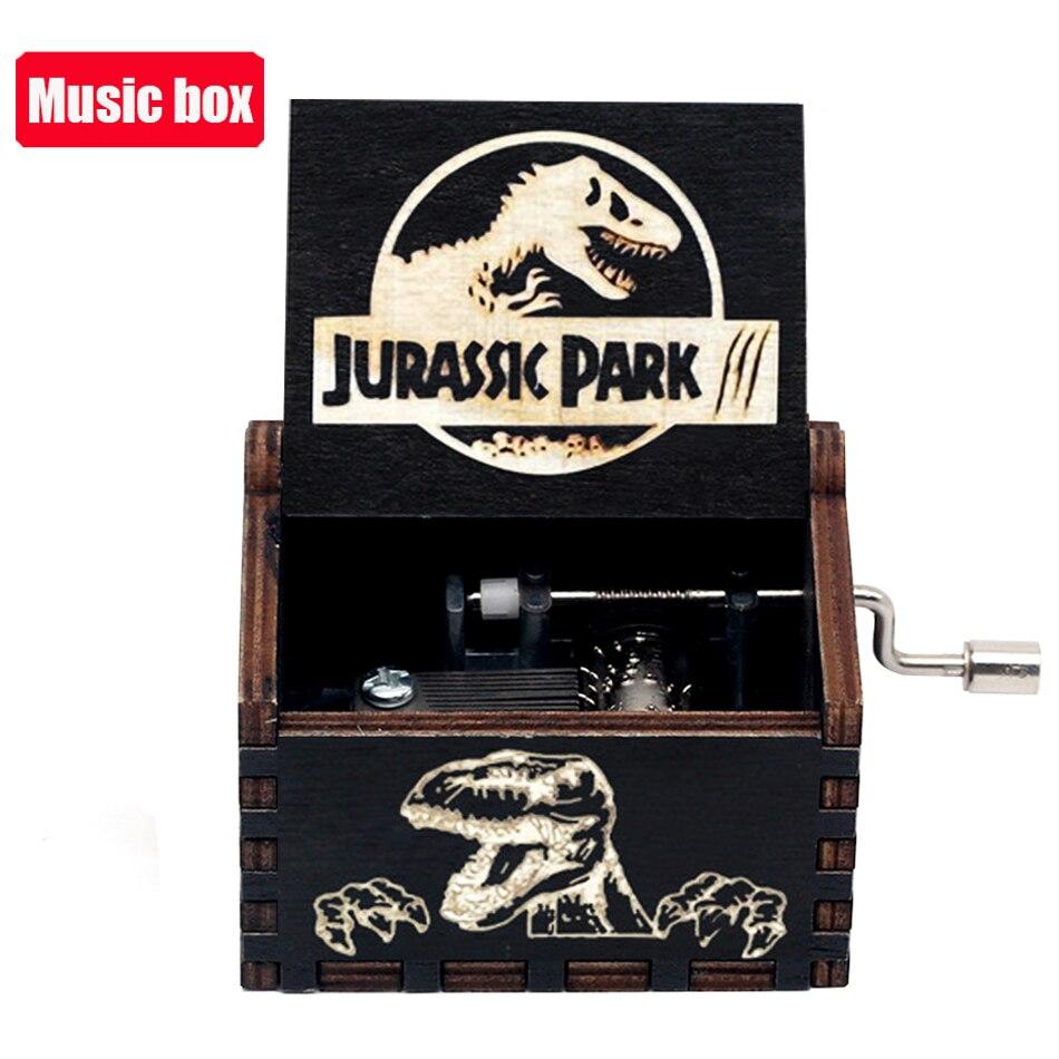 Hot Jurassic Park Hand Crank Music Box Queen  Musical for Birthday Christmas Gift Home Decor 2