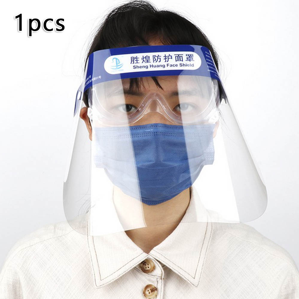 Full Face Transparent Anti Fog Saliva Dust Proof Isolation Eye Protection Cover Personal Protective Equipment