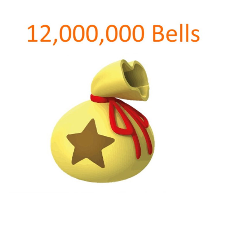 12,000,000 Animal Crossing New Horizons Bells DIY Golden Nugget Nook Miles Ticket Fish Bait Material Recipes For Nintendo Switch
