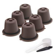 6 adet kullanımlık kahve kapsül filtre fincan doldurulabilir kapaklar kaşık fırça filtre sepetleri Pod yumuşak