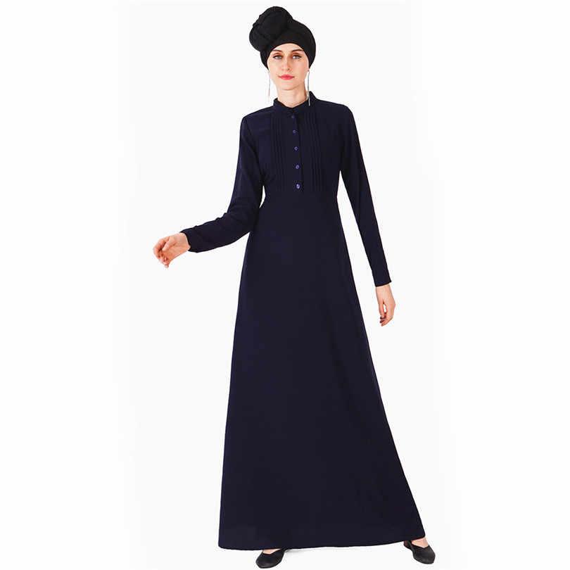 ผู้หญิงเสื้อชุด Hijab มุสลิม Abaya Kimono ตุรกีดูไบ Kaftan เสื้อผ้าอิสลามตุรกีบังคลาเทศสีดำสีเทาสีแดงสีน้ำเงิน Robe