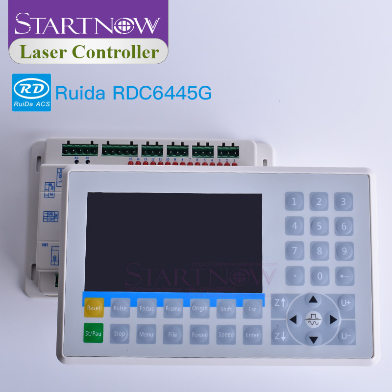 Laser di Controllo DSP Scheda di Sistema CO2 Controllore Del Laser Ruida RDC6445G RDC6445 Laser Macchina Da Taglio CNC Pannello di Visualizzazione Sostituire 6442G