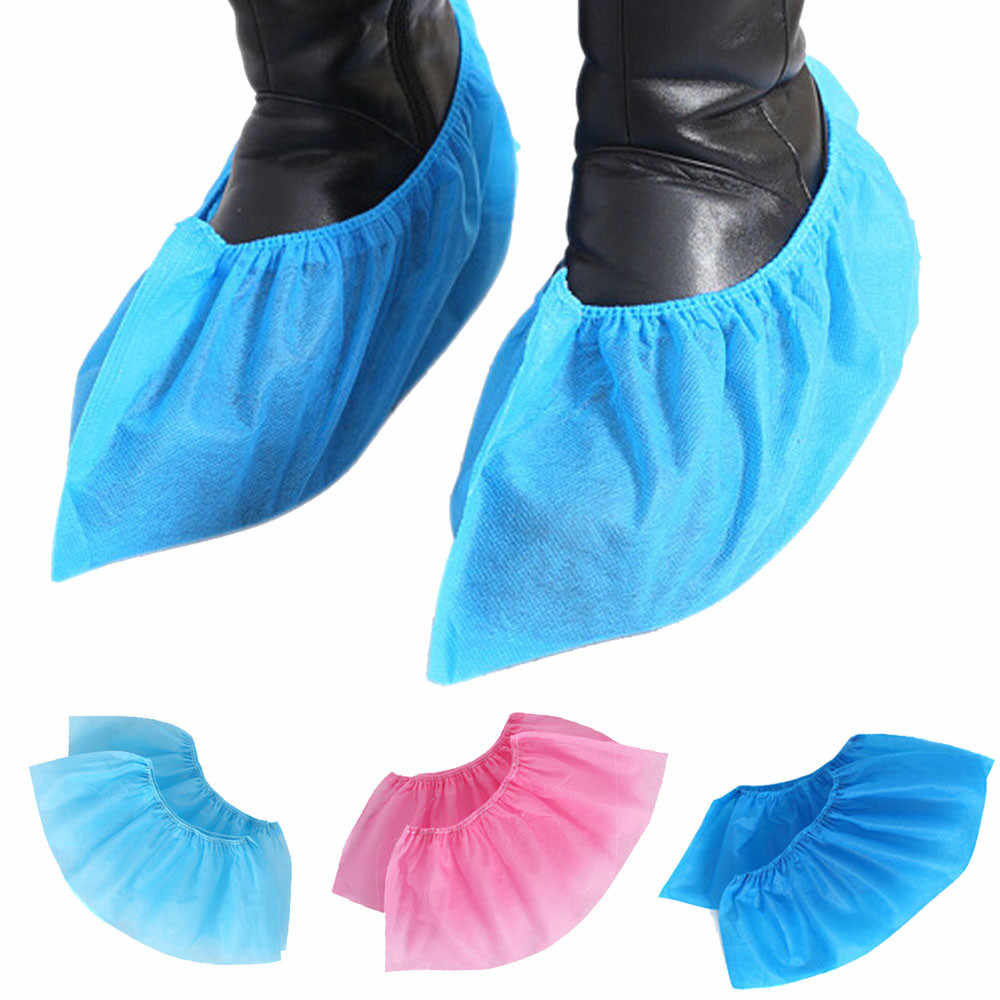 SAGACE รองเท้า Non-SLIP Non-ทอรองเท้า 100pcs Outdoor Disposable Non SLIP พรมทำความสะอาด Overshoes