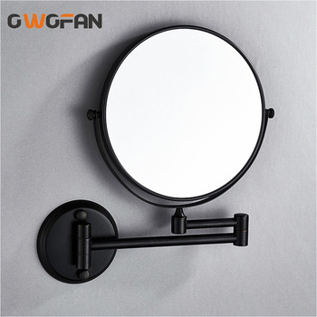 цена на Bath Mirror 8 Inch Folding Black Bathroom Mirror 7