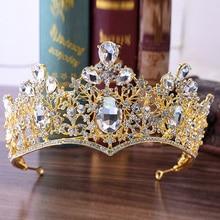 цена на 2PCs Wedding Tiara Princess Crown Decoration for Hair Bride Headband Girl Diadem Bridal Hair Accessories Crystal Ornaments
