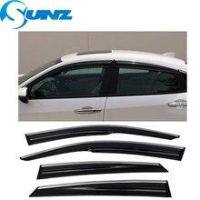Car door visor For CITROEN C5 2010 2018 Window Deflectors For CITROEN C5 2010 2011 2012 2013 2014 2015 2016 2017 2018 Sedan SUNZ