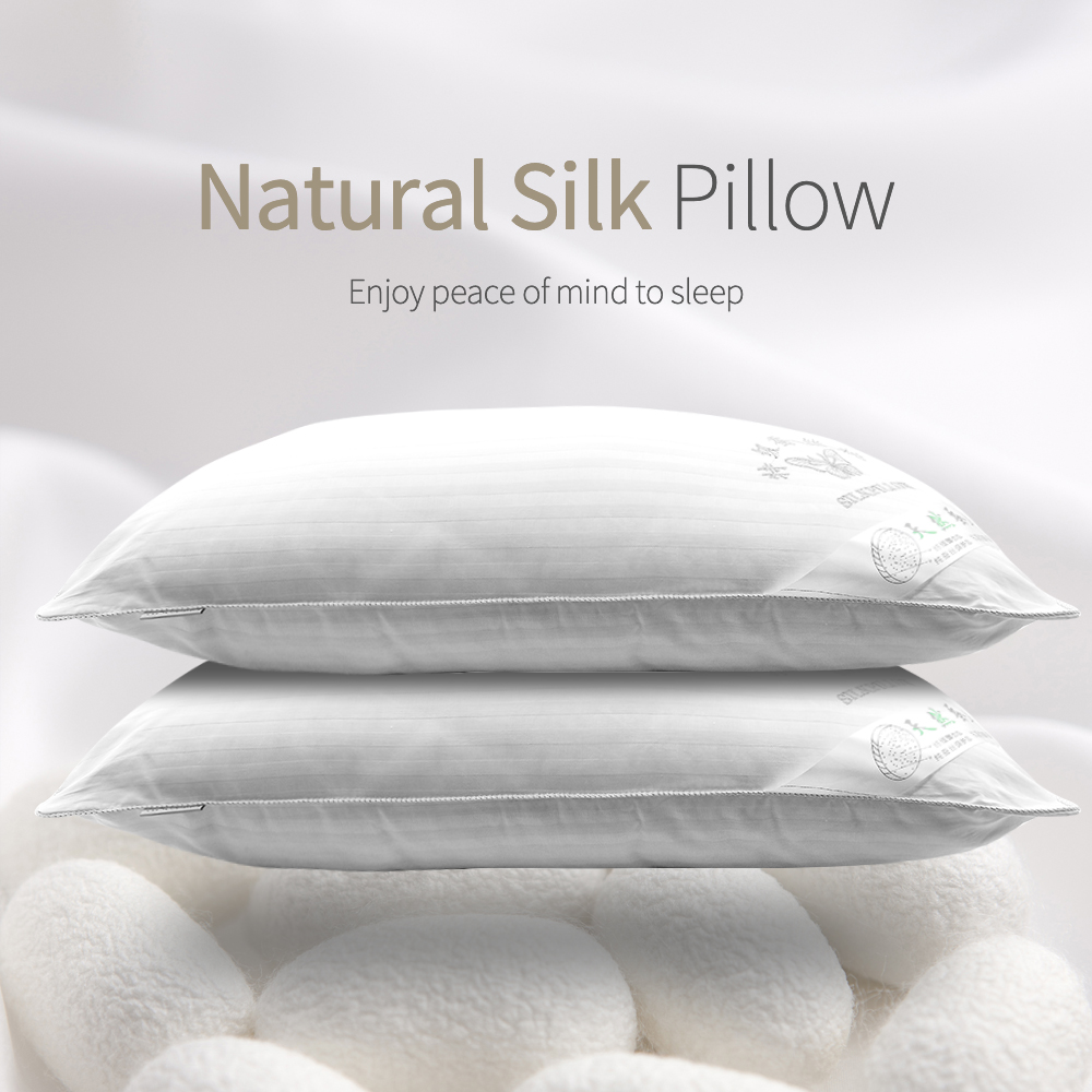 Neck Pillows Mulberry Natural Silk Single Pillow 100 Orthopedic Hotel Memory Pillow for Health Sleeping Standard