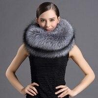 rf2029 Luxury Wintr Real Silver Fox Fur Red Fox Fur Scarf Woman Full Pelt Natural Fur Scarves