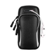 Спортивный чехол для телефона для бега на руку, держатель для мобильного телефона, нарукавники для Airpods Pro iPhone 11 7 Plus Samsung A71, чехол на молнии