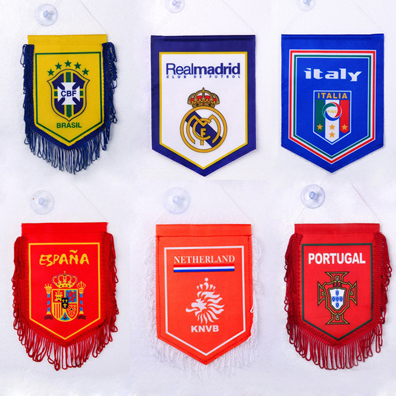 Customizable 2020 European Cup World Cup Germany Brazil Sucker Small Five-pointed Flag Fans Souvenir Gift