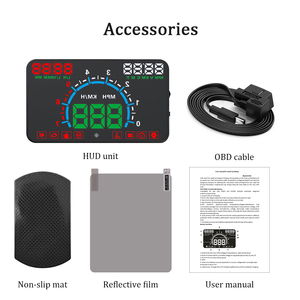 Image 5 - WiiYii HUD E350 car Head Up display Auto speed alarm OBD2 Windscreen Projector car electronics Data Diagnostic Tool