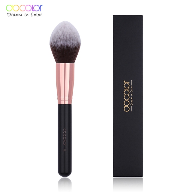 Docolor Makeup Brushes Powder Foundation Highlight Fan Makeup Brushes Wooden Handle Professional Make up Brushes For Beauty 3