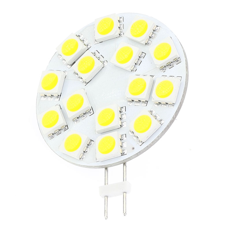 15LED G4 Light Dimmable Lamp  5050SMD 300-330LM 3W  Wide Voltage AC/DC10-30V  For Boats Ships Automobiles 5pcs/lot