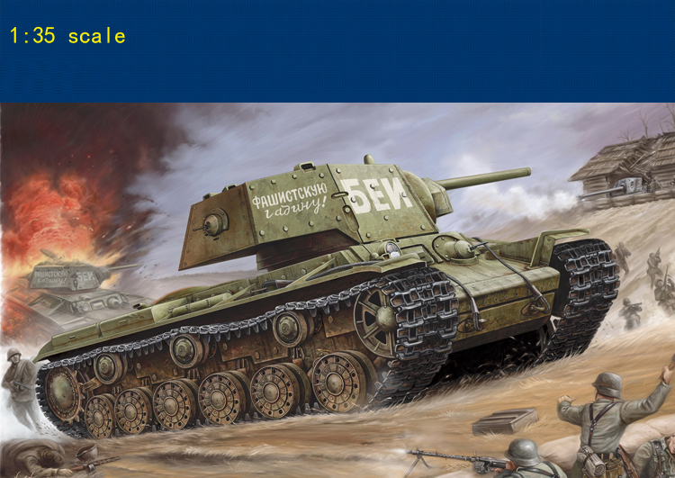 Soviet KV-1 Additional Armored Tank 1/35 Scale Military Model Collection Assembly Model
