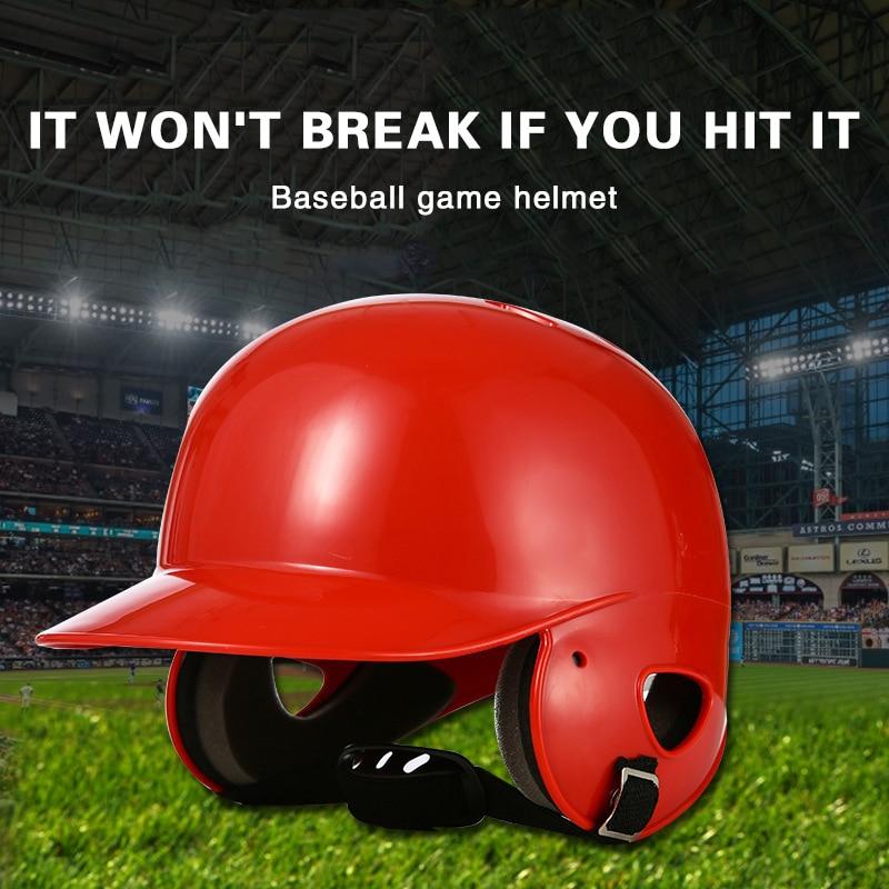 Baseball Helmet Adult Teenager Kids Softball Strike Helmet Baseballs Match Training Head Protection Ears Head Face Baseball Hat