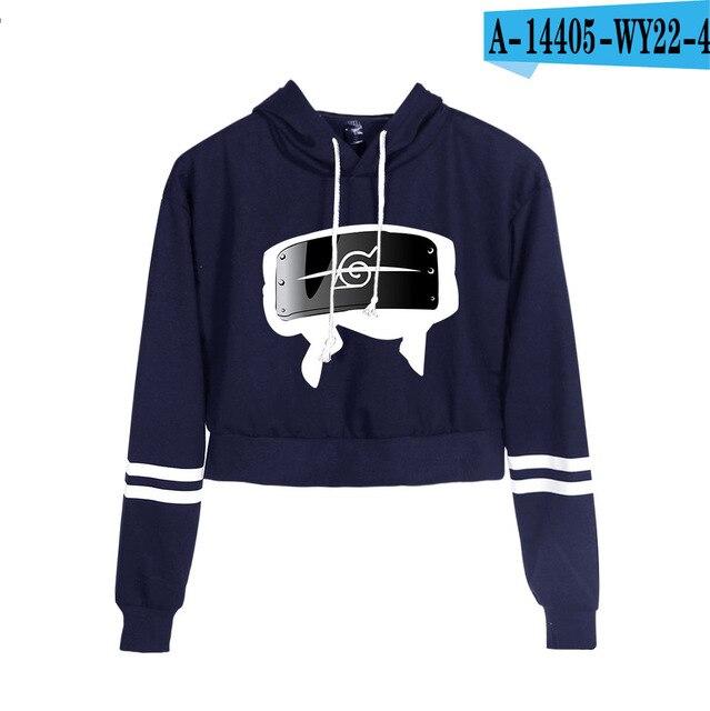 Now United Crop Top Hoodies Harajuku Japanese Anime Uzumaki Printed Hoodie Women Streetwear Fashion Cropped Sweatshirt Coat 15
