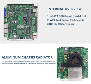 Image 5 - Meilleur Komputer industriel gagne, Mini Pc XCY, Core dintel i5 4200U, Linux, Client fin, 2 ports TV