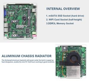 Image 5 - XCY Mini Pc Intel Core i5 4200U Linux Thin Client Micro Desktop Computers Best Industrial Komputer Win 10 7 Minipc 2 Lan Port TV