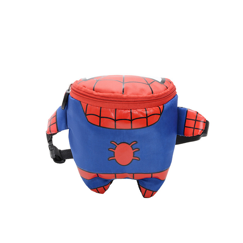 New Spider-Man Waist Bags For Kids Large Capacity Children's Belt Bag Nylon Waterproof Bag Mochila Infantil