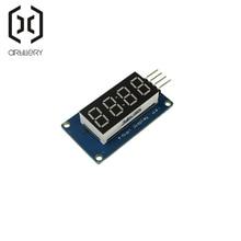 TM1637 светодиодный модуль дисплея 7 сегментный 4 бита 0,36 дюймов часы красный анод цифровая трубка четыре последовательных платы водителя пакет
