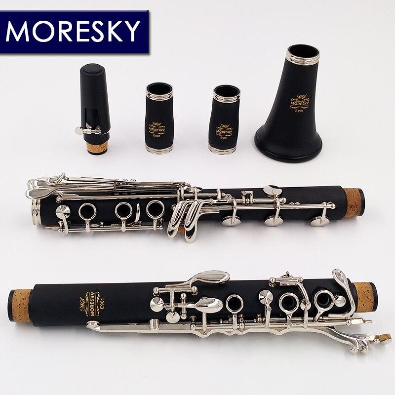 Bohem System Clarinet  G Tune  Clarinet Nickel Plated Keys MORESKY E901