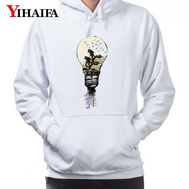 Mens Gym Print Creative Graphics Hoodie Long Sleeve Streetwear Hoody Casual Man Hoodies Sweatshirt Sportswear Pullover Coat