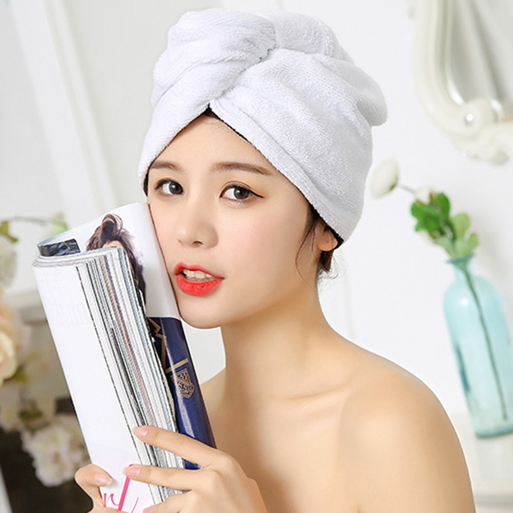 New Arrival  Women Microfiber Hair Towel Wraps Quick Dry Hat Shower Cap For Long Thick Curly Hair Dropshipping