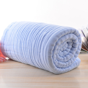 blue cotton baby bath towel