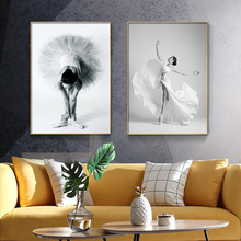 Modern Nordic Elegant Ballet Dancer Canvas Painting Wall Art Posters and Prints for Living Room Wall Pictures Home Cuadros Decor modern nordic elegant ballet dancer canvas painting wall art posters and prints for living room wall pictures home cuadros decor