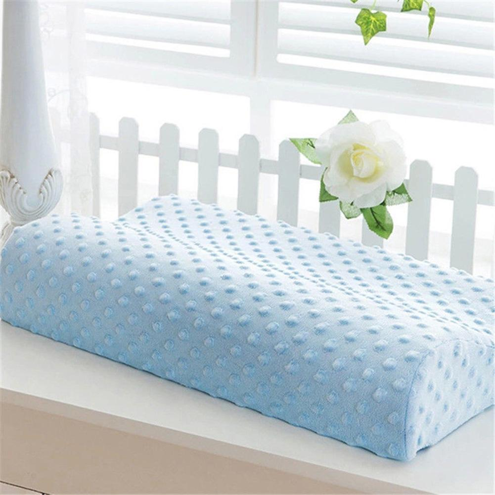 Health Care Pillow For Baby Slow Rebound Memory Foam Neck Rest Orthopedic Soft Comfort Pillow Baby Cervical Spine Health Pillow