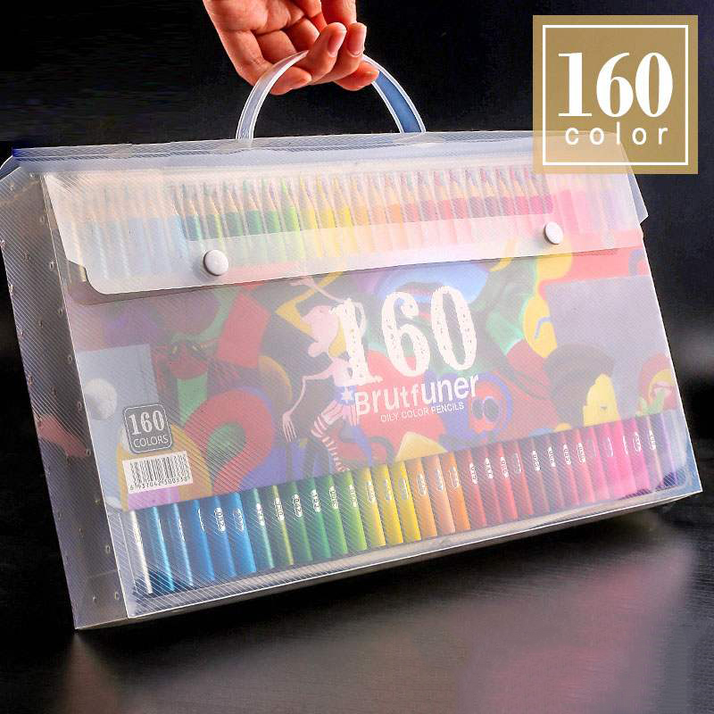 120/160 Colors Wood Colored Pencils Set Artist Painting Oil Color Pencil Colour Coloured For School Drawing Sketch Art Supplies