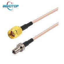 2 pçs/lote reta ts9 fêmea jack para sma macho plug rg316 coaxial trança cabo cabo de extensão montagem cabos 10cm 15cm 30cm 100cm