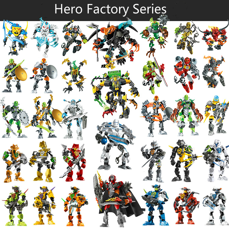 Out Of Print Hero Factory StarWar Soldiers Robots Compatible  Hero Factory 4 5 6 Von Nebula Bionicle DIY Bricks Toys