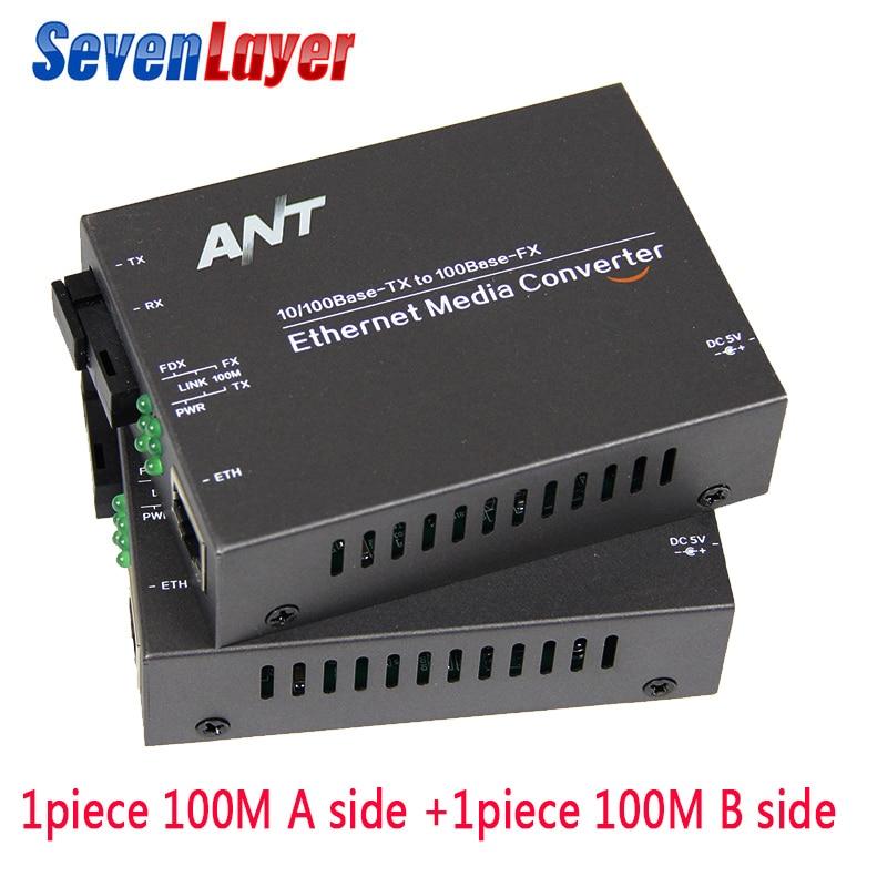 Media Converter Fiber Optical To Rj45 UTP 10/100M 1310/1550 Fiber To Ethernet Switch Fiber