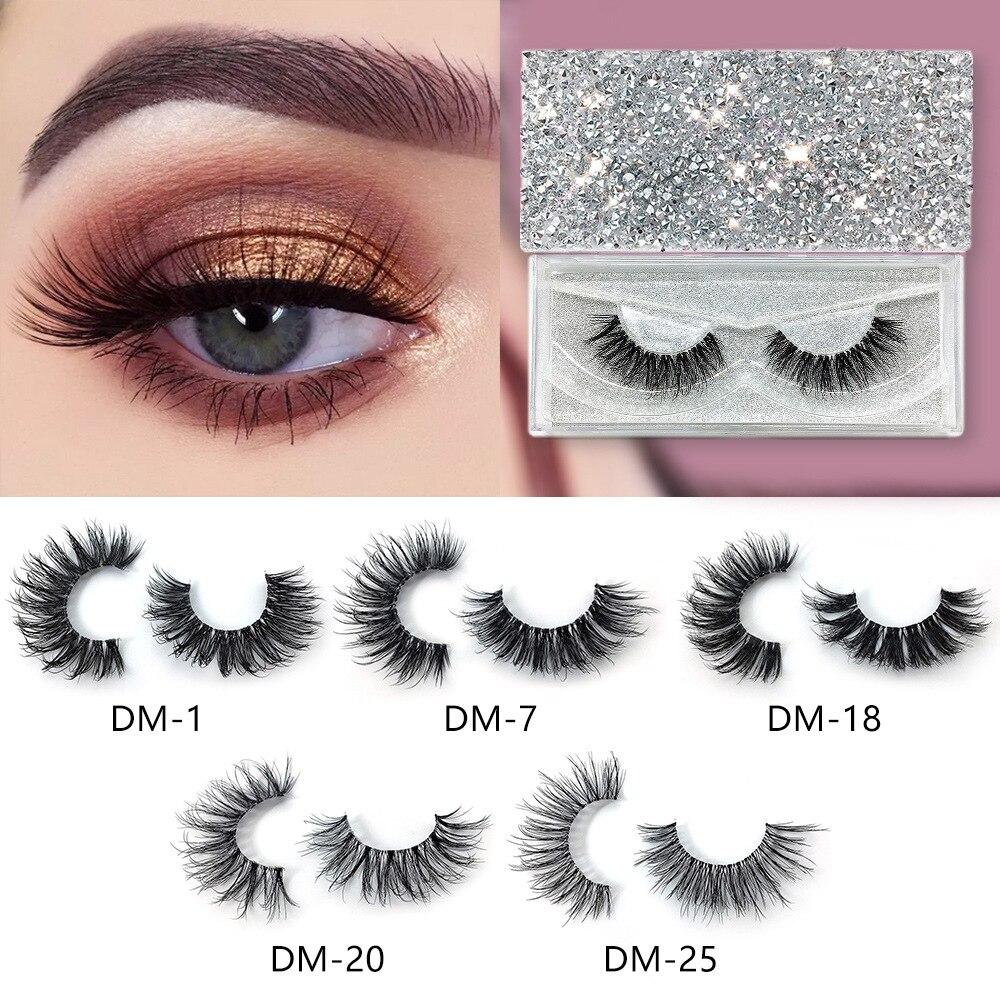1 Pair Magnets False Eyelashes & Magnetic Liquid Eyeliner Magnetic Fake Eyelashes Waterproof Long Lasting Eyelash Extension Tool