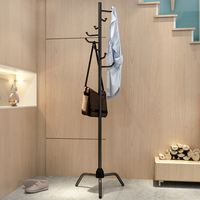 Floor Standing Coat Rack Modern Coat Rack Coat Hat Metal Rack Organizer Hanger Hook Stand For Handbag Clothes Scarf