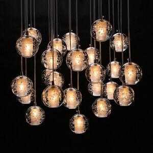 Image 5 - Youlaike Luxus Moderne Kronleuchter Beleuchtung Große Treppe FÜHRTE Kristall Leuchten Poliert Stahl Hängen Lustre Cristal