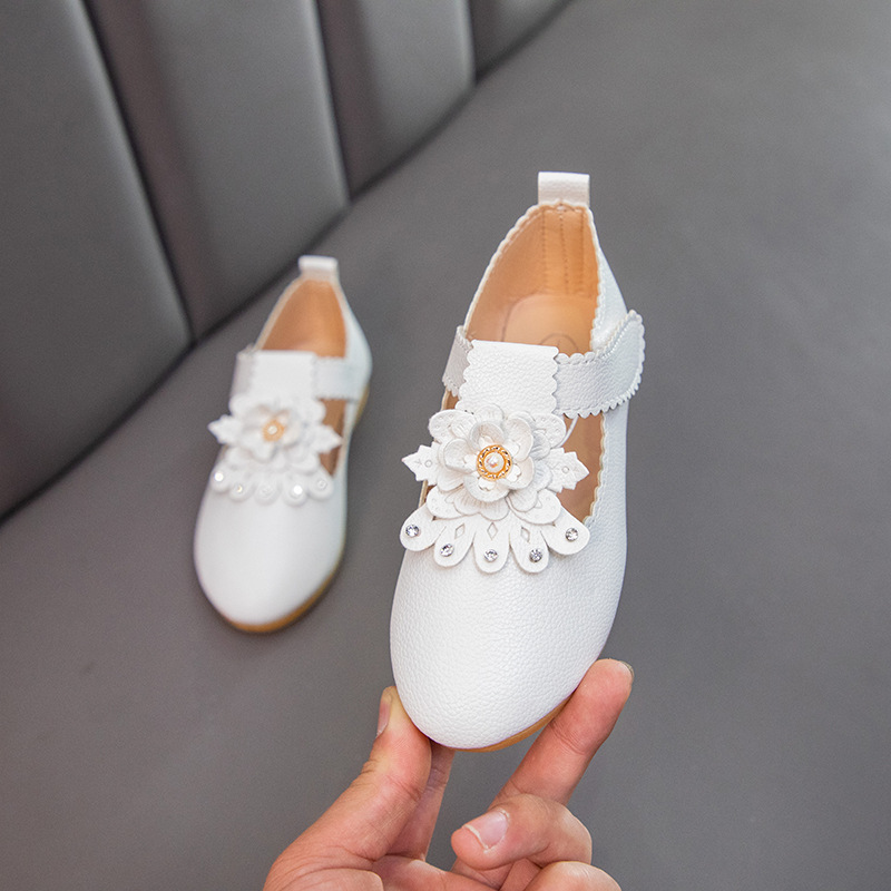 2020 New Princess Autumn Flower Shoes Baby Girls Big Kids Dresses Leather Shoes Children Party Shoes 1 2 3 4 5 6 7 8 9 10 11 12