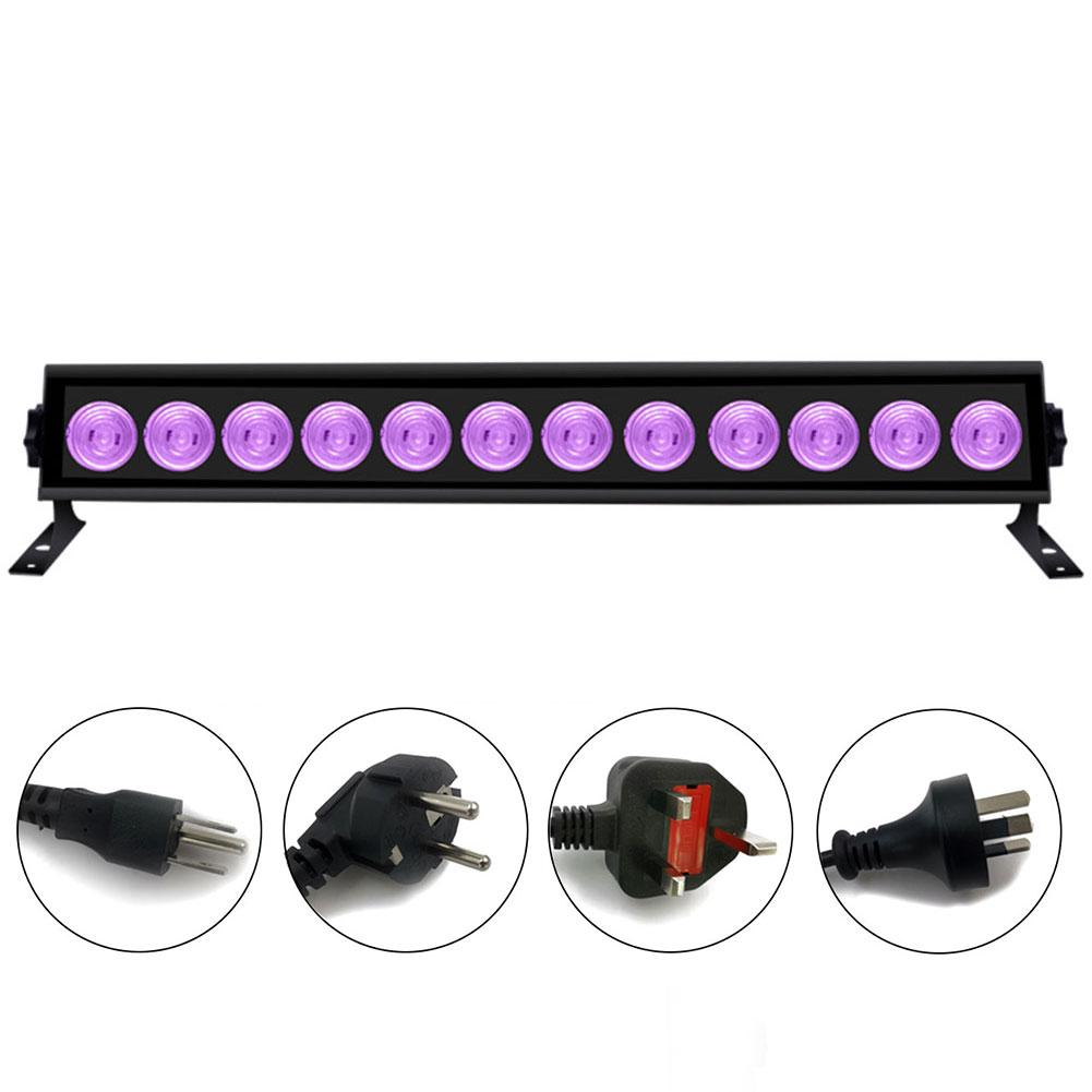 12X3W Disco Lights UV Violet Black Lights Dj Lights Par LED Lamp For Party Wedding Events Lighting Stage Laser Projector Lights
