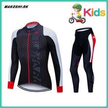 Kids Cycling Jersey Pro Team NW Ropa Ciclismo Hombre Triathlon Set MTB Clothing Northwave Bib Pants