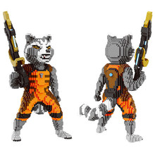 Hot Lepining Star wars Rocket Racoon Guardiani Galaxy figure modello mini micro diamante mattoni Building block giocattoli per il regalo del bambino(China)