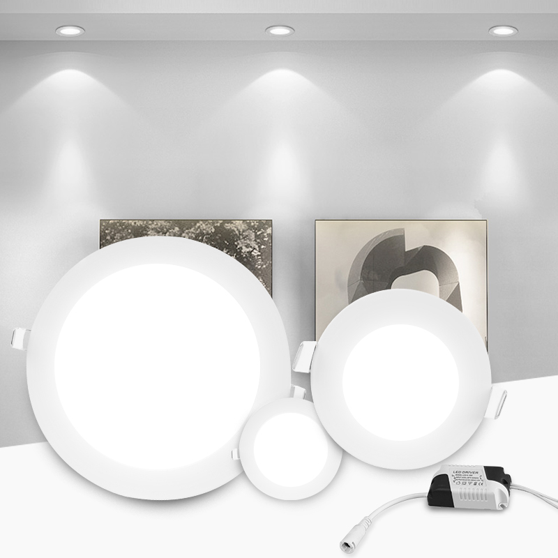 Led Downlight Recessed Kitchen Home Lamps 220V Ultra Thin Panel Lights 3W 6W 9W 12W 15W 18W LED Down Light Spot Led Ceiling Lamp image