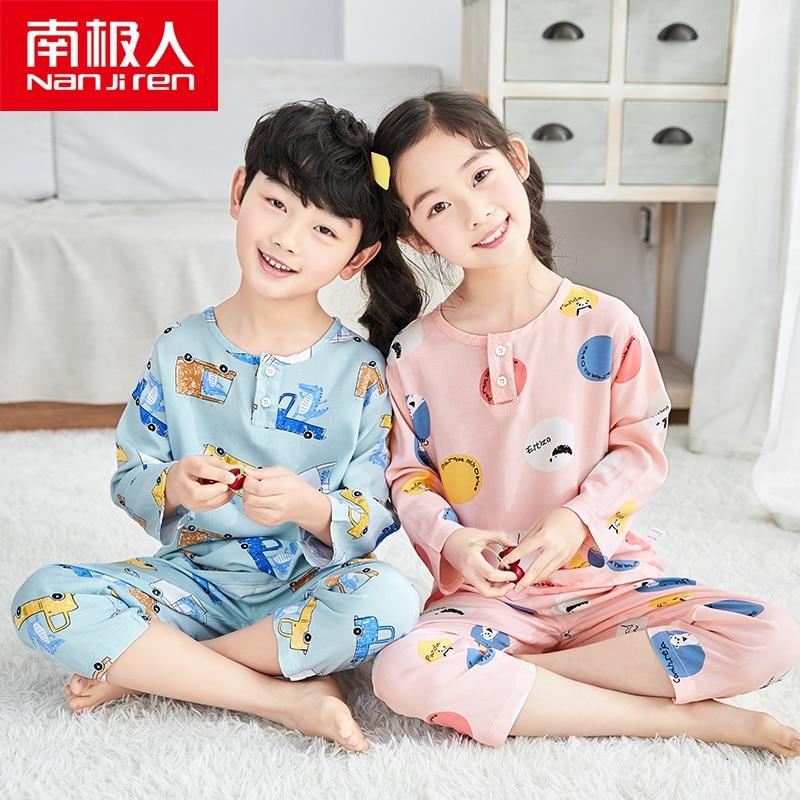 NANJIREN/Детская Пижама; Топы; Детская одежда для сна; Пижамные комплекты для маленьких девочек; Одежда для сна с изображением животных для маль...