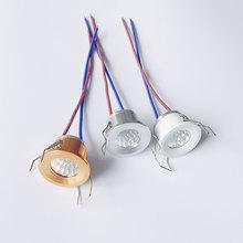 Możliwość przyciemniania 3W LED oprawa sufitowa do sufitu u nas państwo lampy 220V 230V 240V reflektor LED wystrój domu sypialnia kuchnia kryty downlight 3000K 6000K tanie tanio ONDENN Przemysłowe Mini Indoor Aluminium 3 Years ON-M-3 Nikiel szczotkowany 220 v Żarówki led
