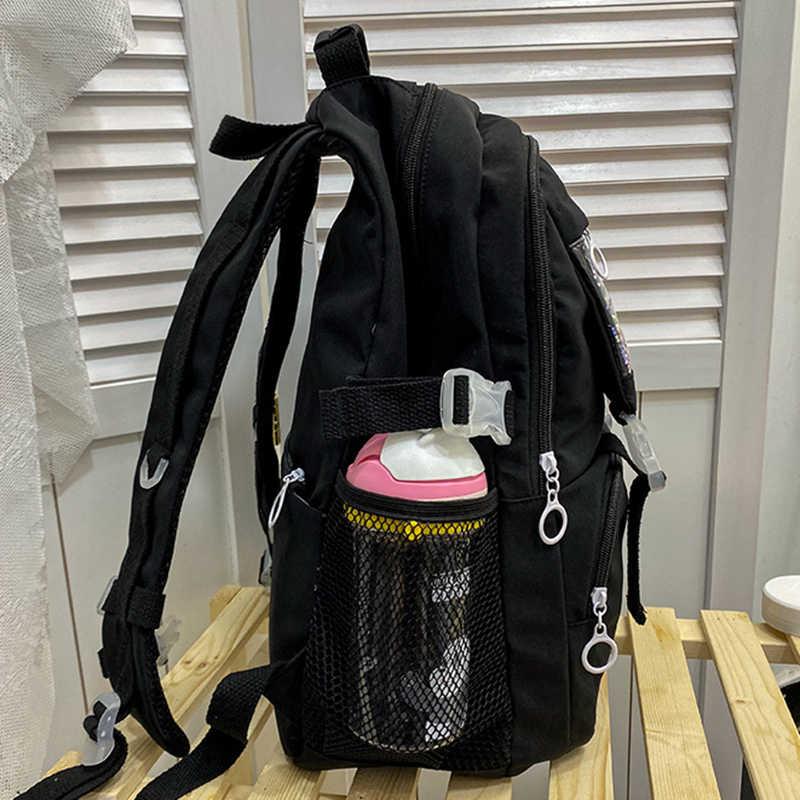Dorywczo kobiet plecaki szkolne torby nastoletnie dziewczyny kobiet o dużej pojemności plecak podróżny czarny różowy plecak torby na ramię w stylu Oxford