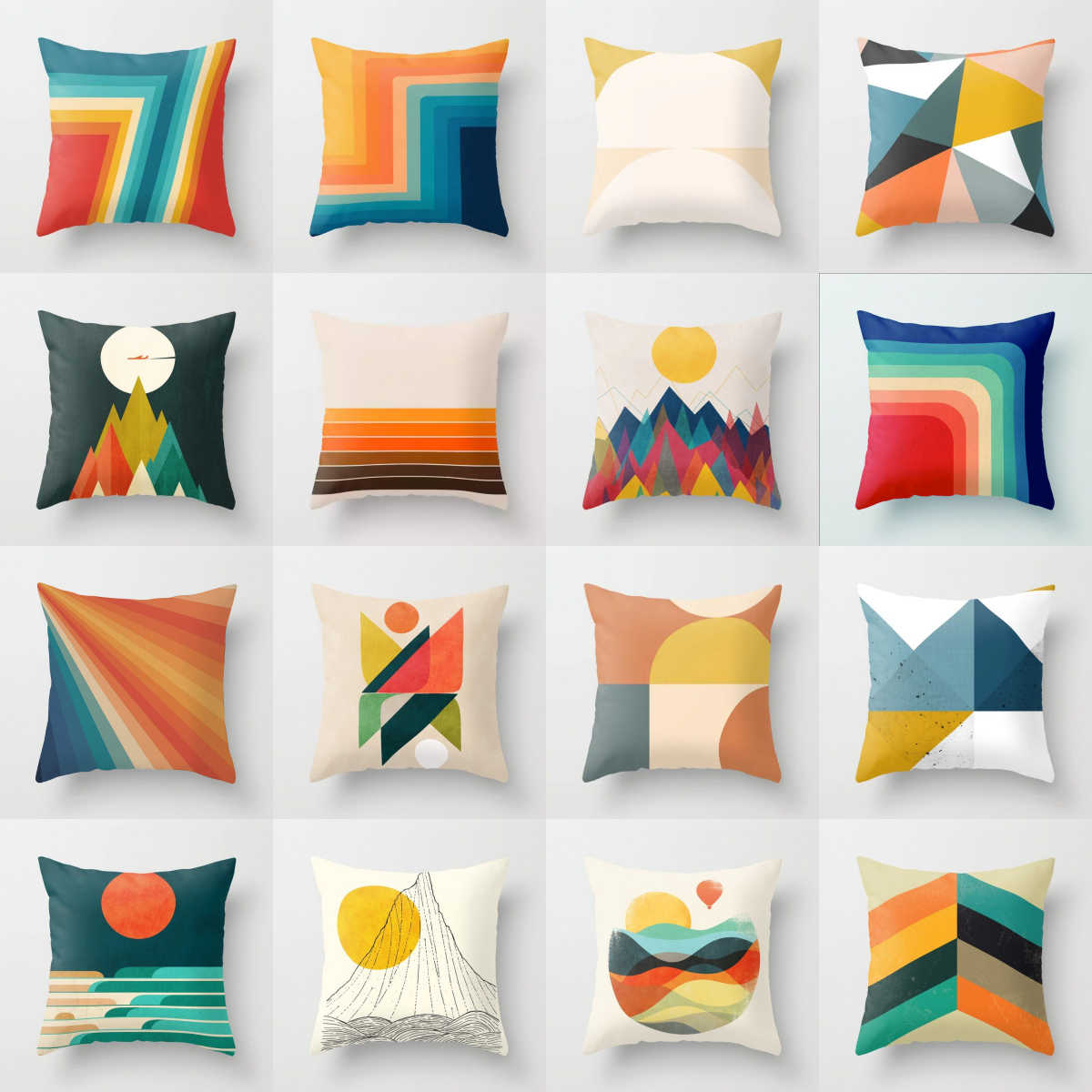 Creative Geometry Polyester Cushion Cover Modern Abstract Art Pillow Case Christmas Livingroom Sofa Bed Seats Decorative Pillows Cushion Cover Aliexpress