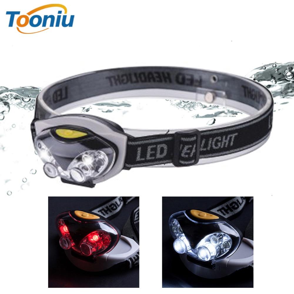 LED Headlight Head Bike Lamp Light Infrared Ray Mini Waterproof 800Lm 3 Modes 3xAAA Battery Headlamp With Headband